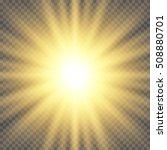 gold glowing light burst... | Shutterstock .eps vector #508880701