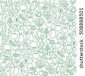 fresh vegetables seamless... | Shutterstock .eps vector #508888501