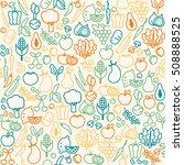 fresh vegetables seamless...   Shutterstock .eps vector #508888525