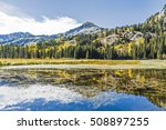 silver lake mountain landscape... | Shutterstock . vector #508897255