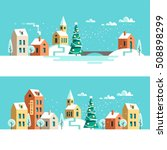 winter urban landscape.... | Shutterstock .eps vector #508898299