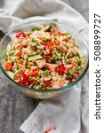 rice salad with salmon ...   Shutterstock . vector #508899727
