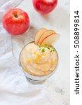 fresh homemade applesauce ...   Shutterstock . vector #508899814