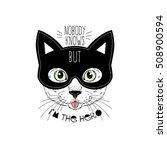 cat hero  hand drawn animal... | Shutterstock .eps vector #508900594