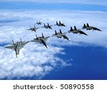 With Military Planes Against...