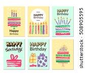 birthday greeting card... | Shutterstock .eps vector #508905595