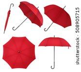 red blank classic round rain... | Shutterstock .eps vector #508905715