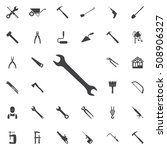 wrench icon. construction ... | Shutterstock .eps vector #508906327