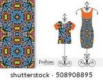 vector fashion illustration.... | Shutterstock .eps vector #508908895
