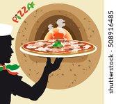 pizza | Shutterstock .eps vector #508916485