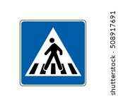 traffic sign pedestrian crossing | Shutterstock .eps vector #508917691