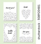 set of greeting cards. thank... | Shutterstock .eps vector #508920481