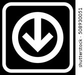 direction down white vector... | Shutterstock .eps vector #508930051