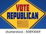 vote republican | Shutterstock . vector #50893069