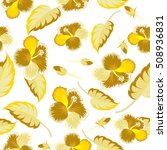 seamless pattern with tropical... | Shutterstock .eps vector #508936831