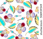 seamless pattern of tropical... | Shutterstock .eps vector #508939549