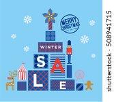 christmas sale design template  ...   Shutterstock .eps vector #508941715