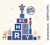 christmas tree greetings ... | Shutterstock .eps vector #508941991
