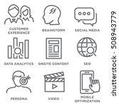 icon set for marketing strategy ...