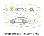 car exhaust fumes vector... | Shutterstock .eps vector #508944751