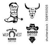 wild west. set of vintage rodeo ... | Shutterstock .eps vector #508950505