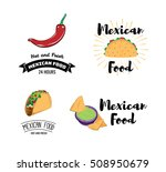mexican food chili pepper.... | Shutterstock .eps vector #508950679