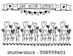 hand drawn vector vintage... | Shutterstock .eps vector #508959601