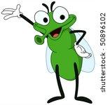 cute fly presenting