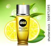 lemon and green tea serum and...   Shutterstock .eps vector #508971595
