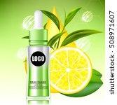 lemon and green tea serum and... | Shutterstock .eps vector #508971607