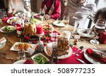 family together christmas... | Shutterstock . vector #508977235