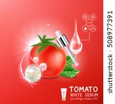 collagen serum tomato extract... | Shutterstock .eps vector #508977391