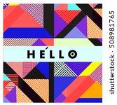 trendy geometric elements... | Shutterstock .eps vector #508981765
