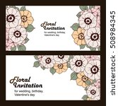 invitation with floral... | Shutterstock .eps vector #508984345