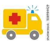 ambulance  pickup  vector icon   Shutterstock .eps vector #508984429