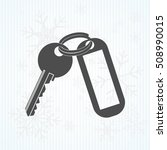 keys and  key chain  blank... | Shutterstock .eps vector #508990015