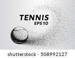 tennis of particles. a tennis... | Shutterstock .eps vector #508992127