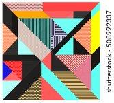 trendy geometric elements... | Shutterstock .eps vector #508992337