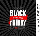 black friday sale text design...   Shutterstock .eps vector #508993729