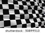 fluttering checkered flag on... | Shutterstock . vector #50899513