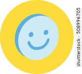 3d smile ui icon or button | Shutterstock .eps vector #508996705