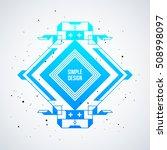 futuristic design element with... | Shutterstock .eps vector #508998097