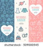 wedding banner flyer vertical... | Shutterstock .eps vector #509000545