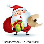 santa claus carrying sack and... | Shutterstock .eps vector #509003341