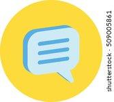 3d ui bubble chat  comment ...
