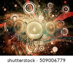 decorative grunge poster with... | Shutterstock . vector #509006779