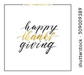Happy Thanks Giving Gold Text...