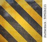 yellow and black marking grunge ... | Shutterstock . vector #509026111