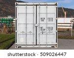 Closed White Metal Cargo...