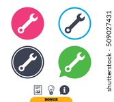 Wrench Key Sign Icon. Service...